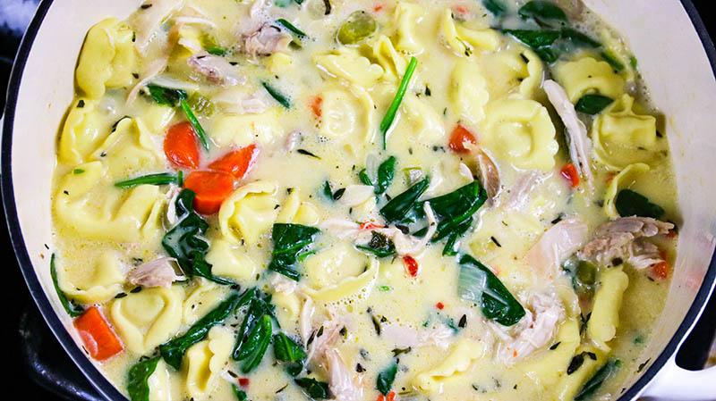 Creamy Chicken Tortellini Soup 24