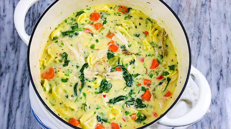 Creamy Chicken Tortellini Soup 27