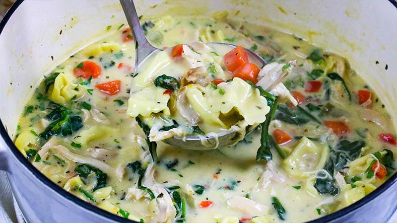 Creamy Chicken Tortellini Soup 28