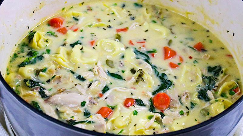 Creamy Chicken Tortellini Soup 29