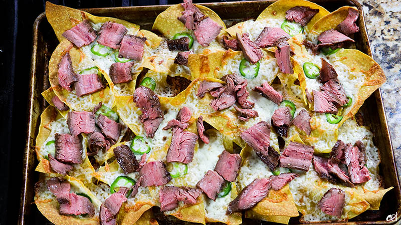 Loaded Steak Sheetpan Nachos14