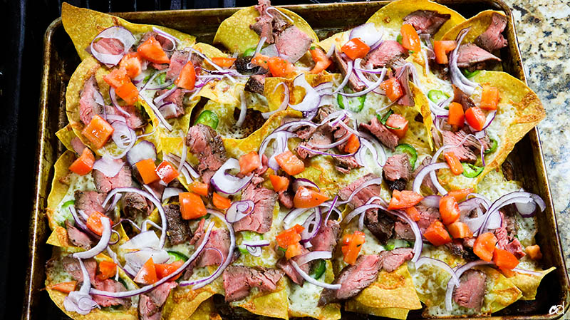 Loaded Steak Sheetpan Nachos15