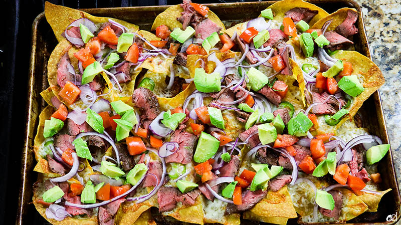 Loaded Steak Sheetpan Nachos16