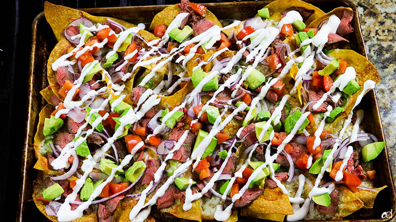 Loaded Steak Sheetpan Nachos17