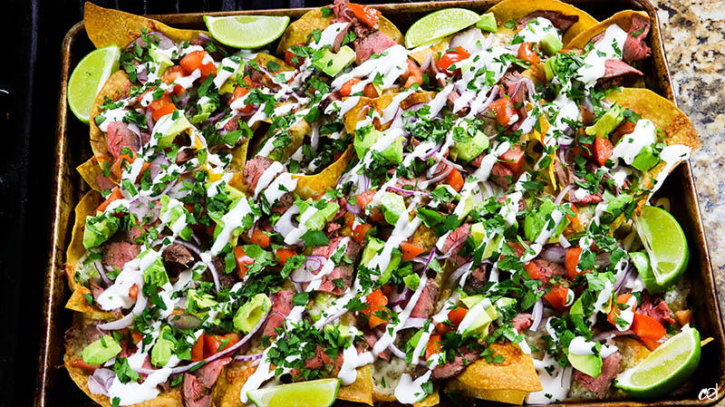 Loaded Steak Sheetpan Nachos18