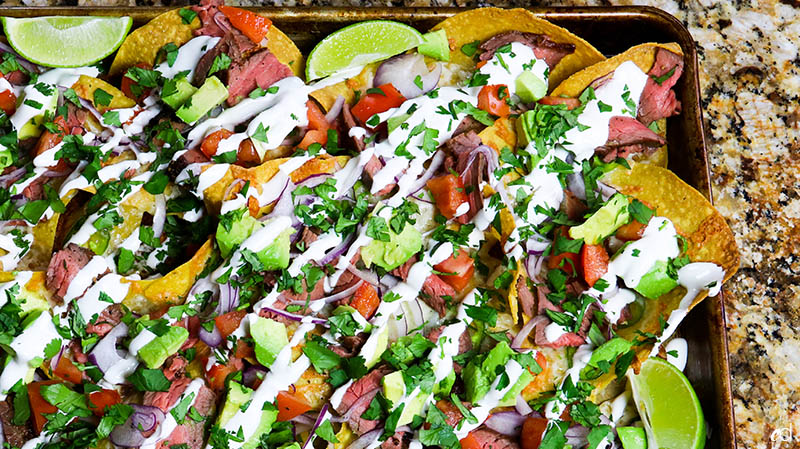 Loaded Steak Sheetpan Nachos21