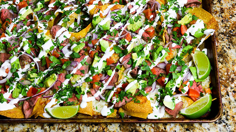 Loaded Steak Sheetpan Nachos22