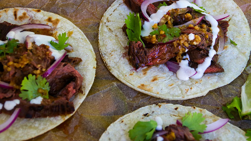 Grilled Mojo Steak Tacos
