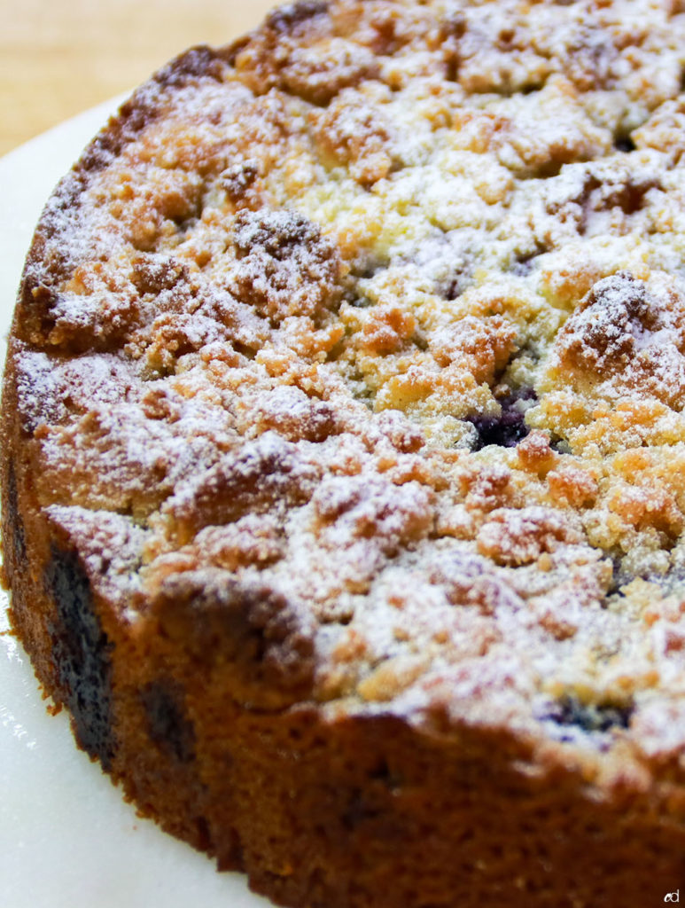 Keto Sour Cream Blueberry Crumb Cake F2