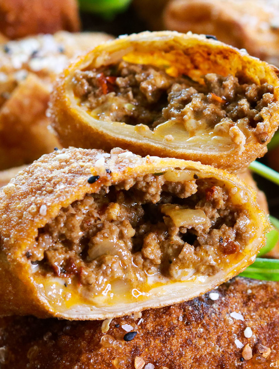 Bacon Cheeseburger Egg Rolls 5