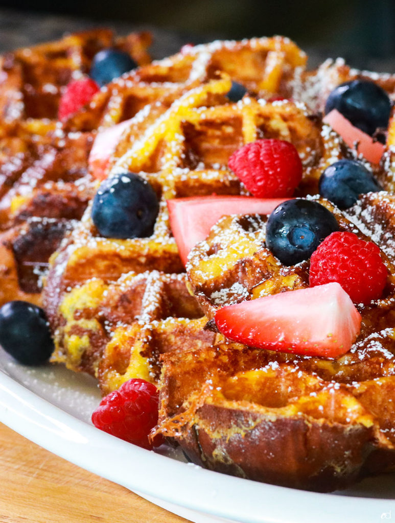 Challah French Toast Waffles