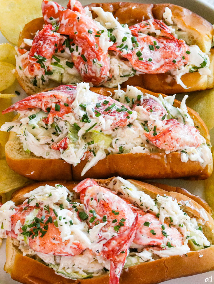 Crab And Lobster Seafood Rolls