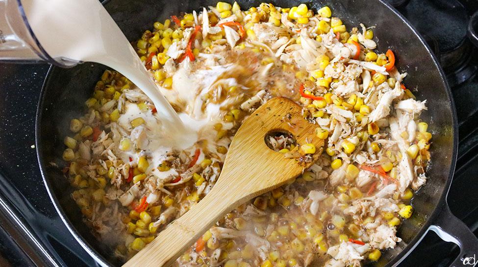 Creamy Crab Corn Bacon Pasta 18
