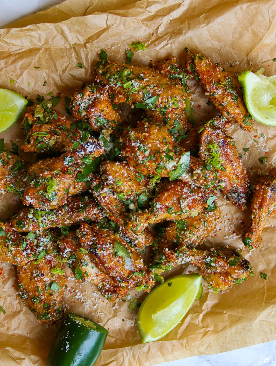 Elote Chicken Wings